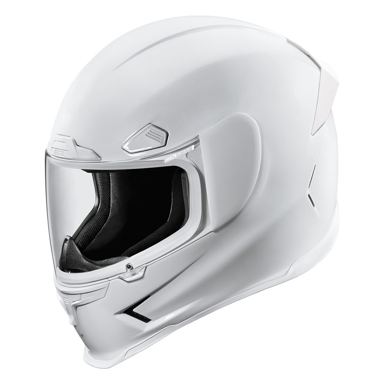 Icon Airframe Pro Gloss Motorcycle Helmet - White - Get Lowered Cycles