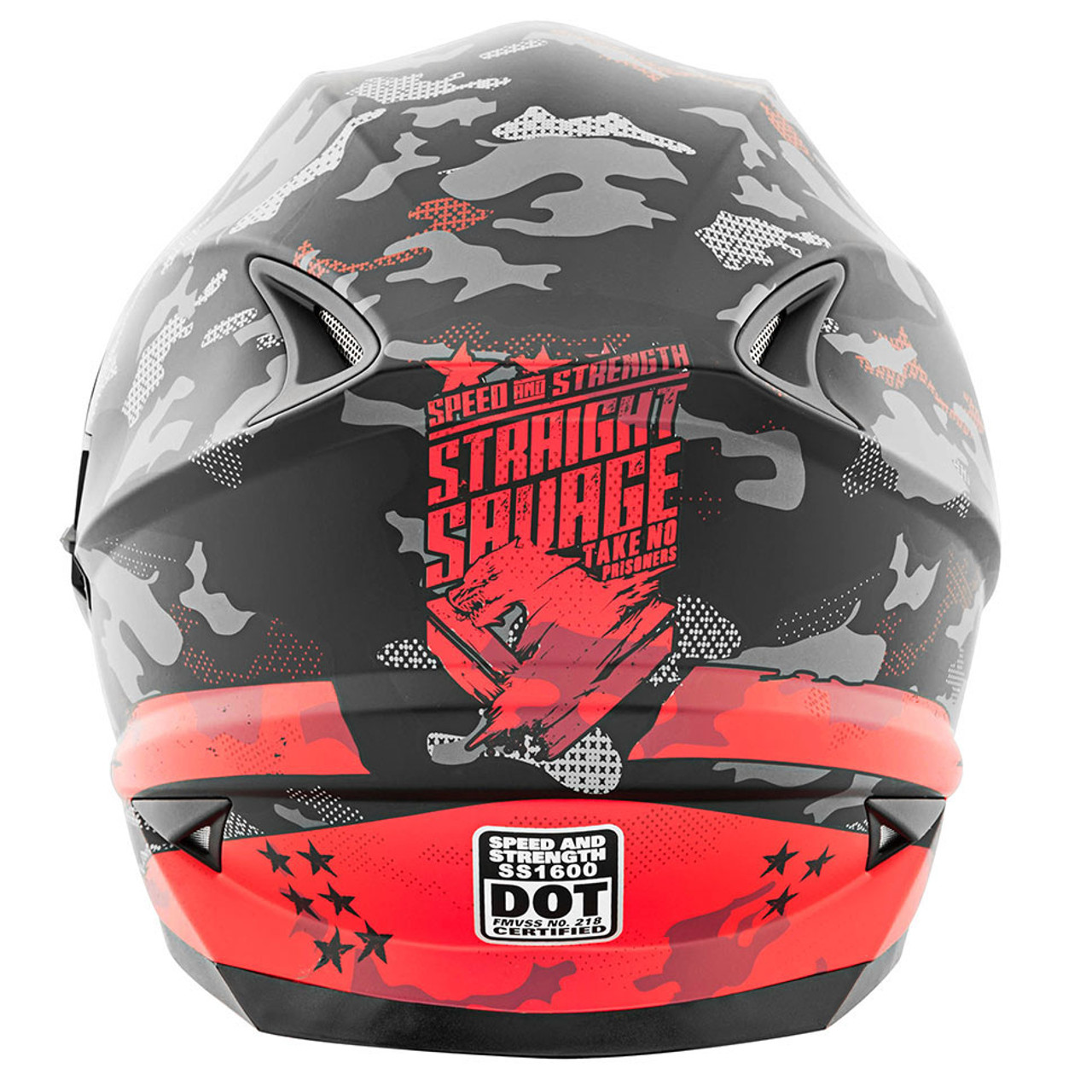 8dacace0 Speed and Strength SS1600 Straight Savage Helmet - Red/Black - Get ...