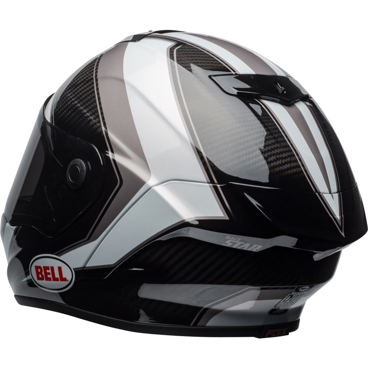 e2f52a82 Bell Race Star Gloss Sector White/Titanium Helmet - Get Lowered Cycles