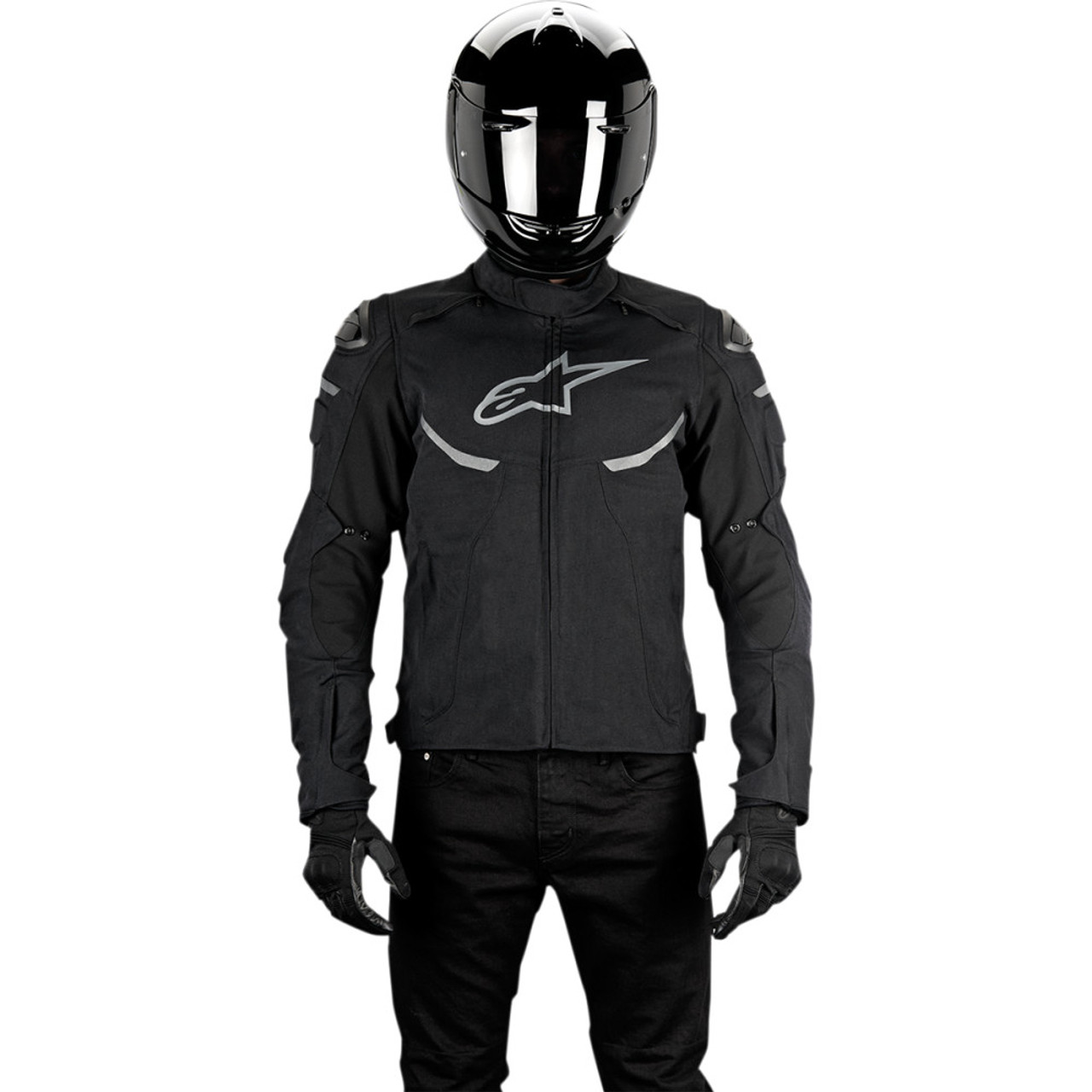 Alpinestars Motorcycle Jacket >> Alpinestars Enforce Drystar Motorcycle Jacket Black Get Lowered