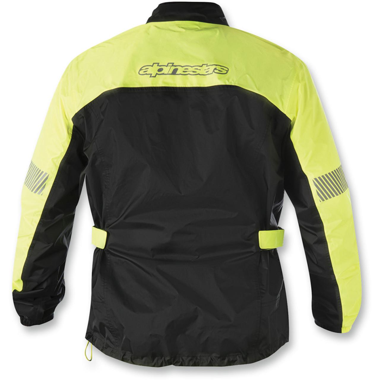 7fa79406b6a Alpinestars Hurricane Motorcycle Rain Jacket - Black/Yellow - Get ...
