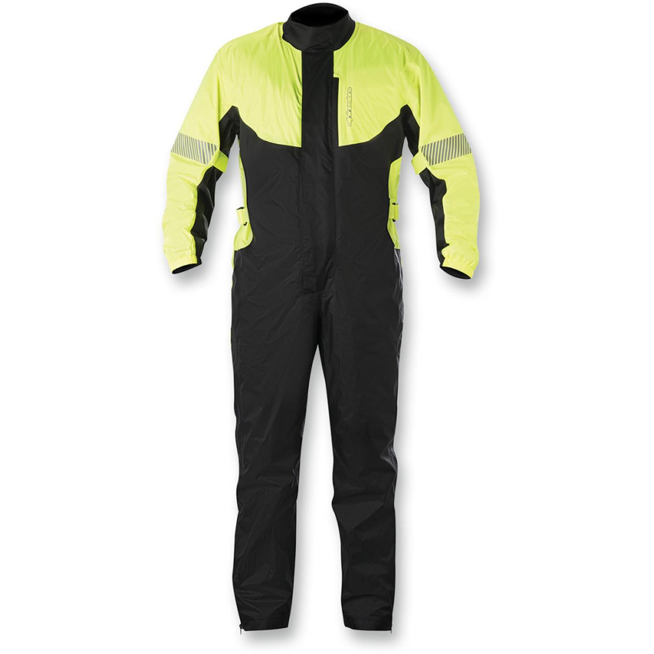 98bd6df1aa3 Alpinestars Hurricane Motorcycle Rain Suit - Black/Yellow - Get Lowered  Cycles