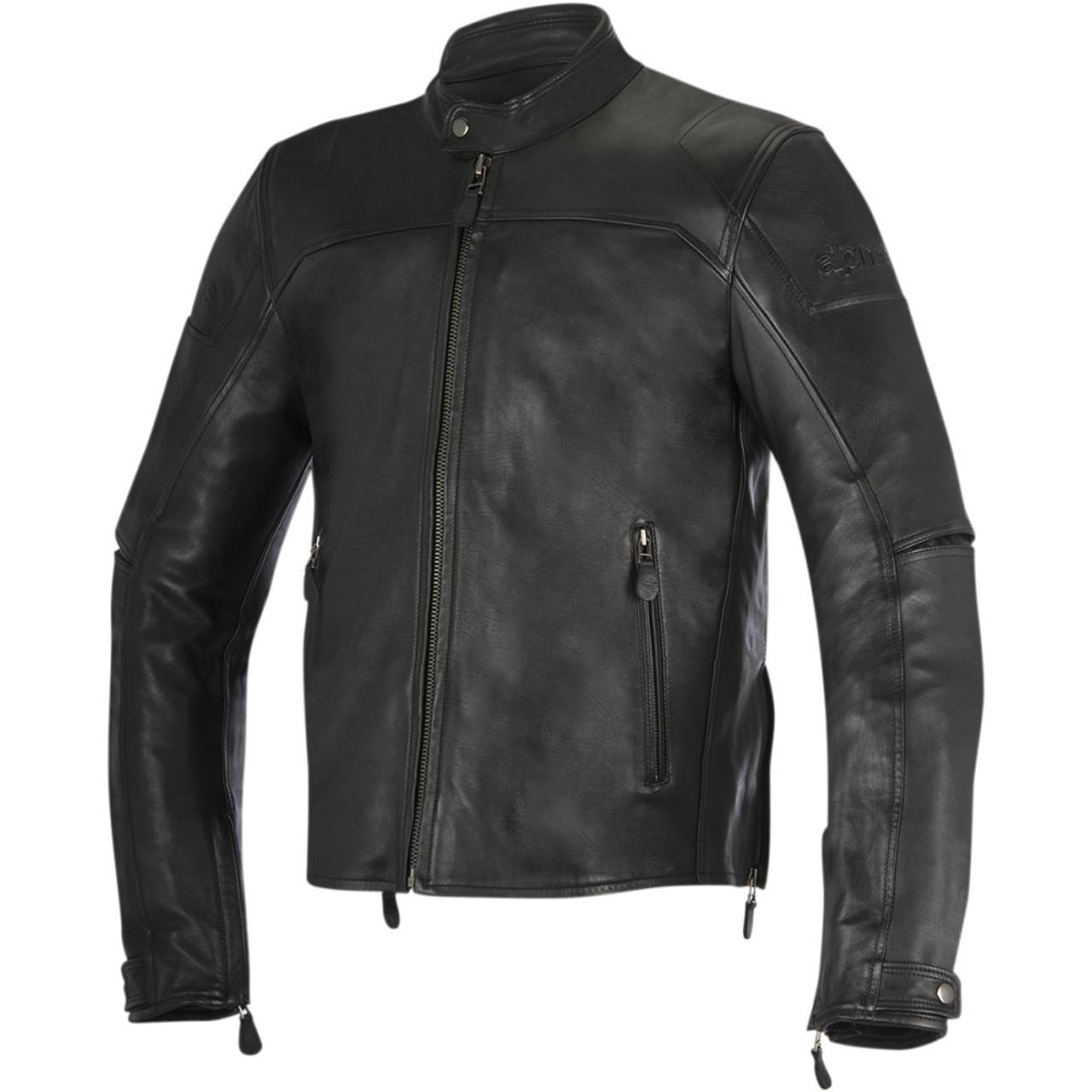 Alpinestars Motorcycle Jacket >> Alpinestars Oscar Brera Leather Motorcycle Jacket Black Get