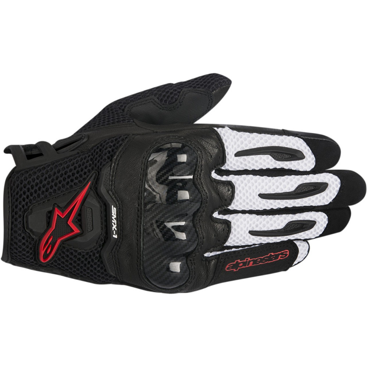 Choose Size Alpinestars SMX-1 Air V2 Leather//Textile Riding Gloves Black//Red