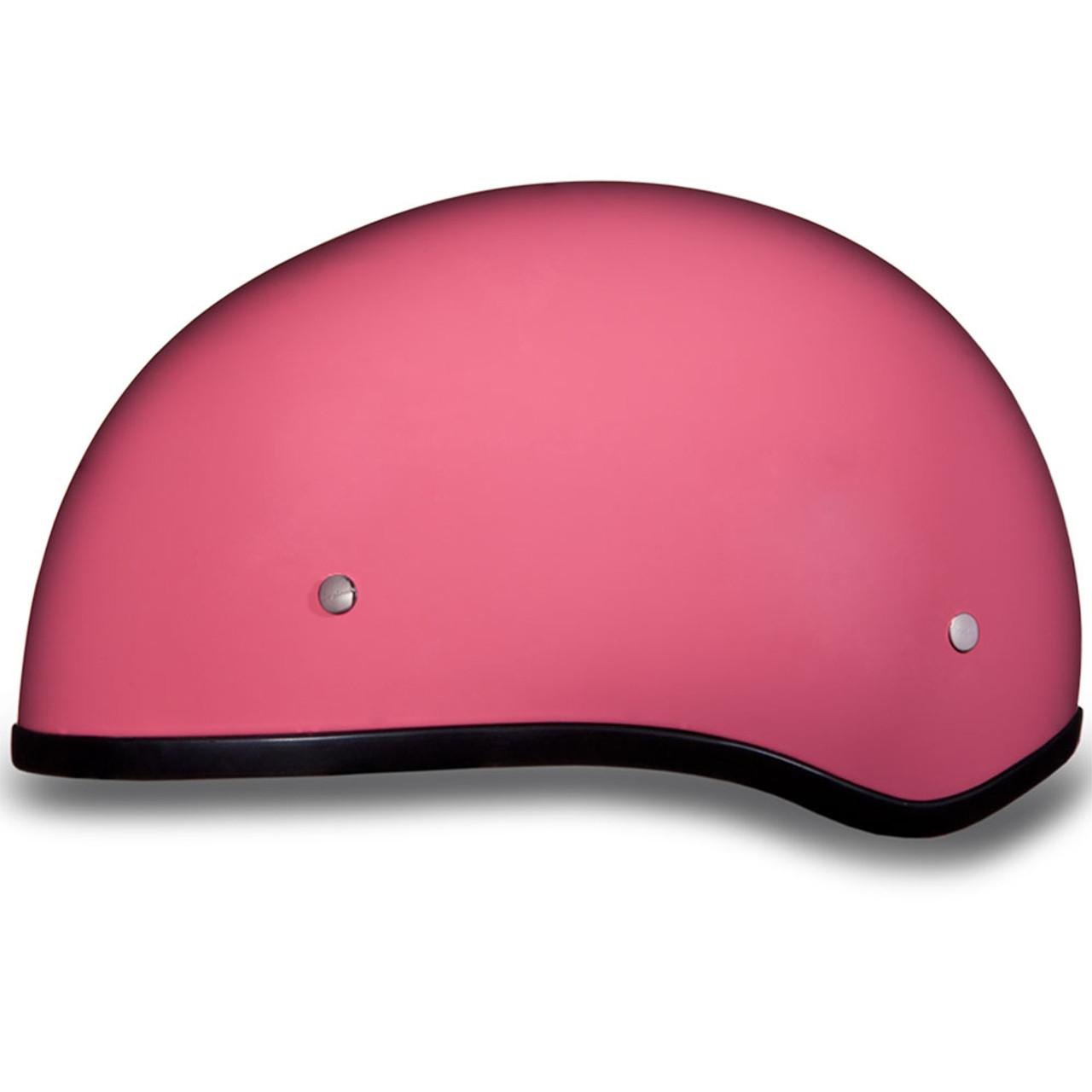 0f9f484fdcd Daytona DOT Gloss Pink Skull Half Shell Motorcycle Helmet - Get ...