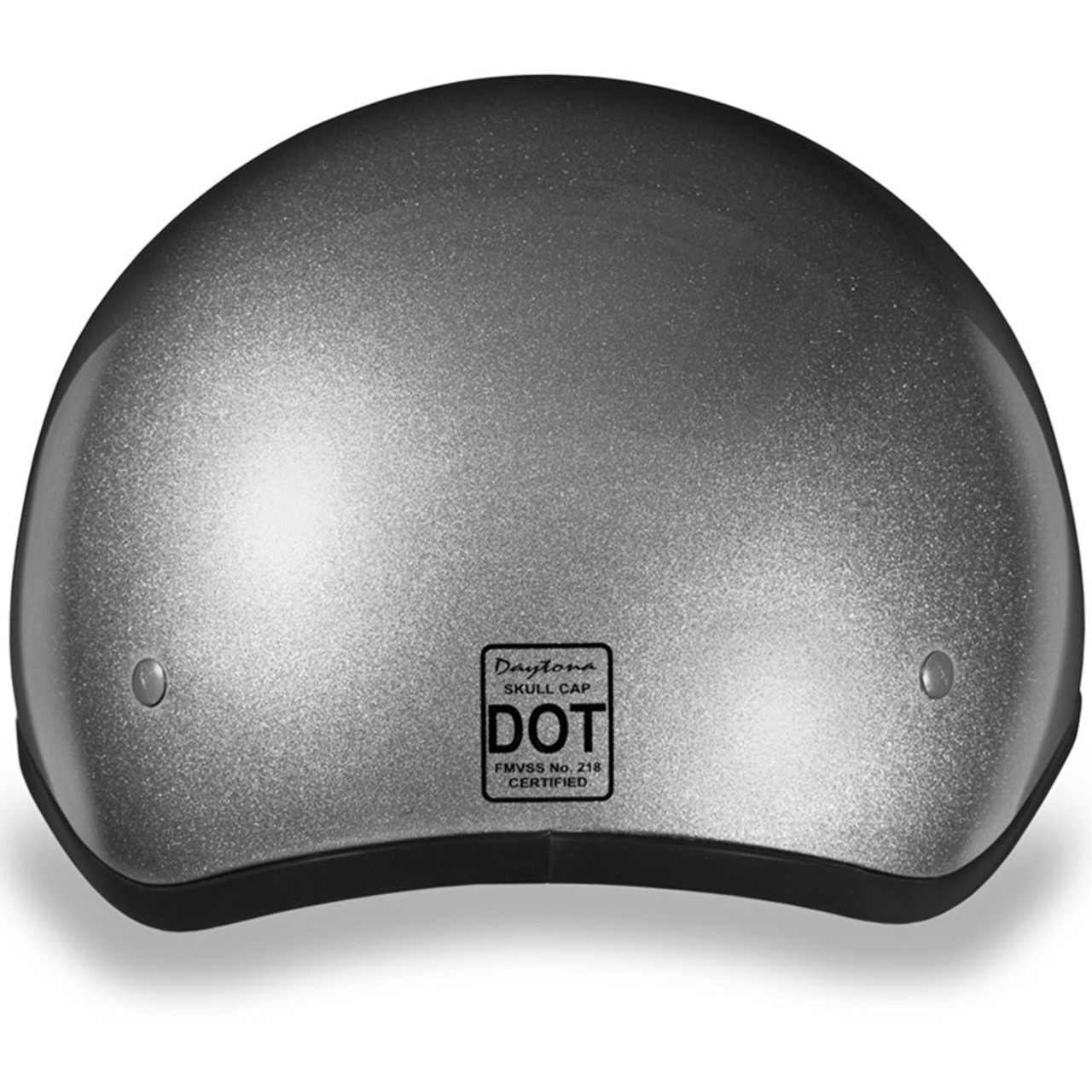 5ff4bb4fbbd Daytona DOT Silver Metallic Helmet w  Visor - Get Lowered Cycles