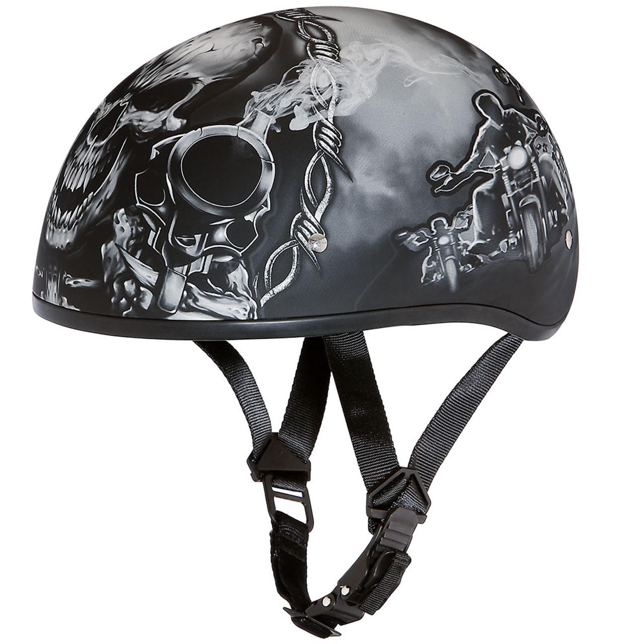 46989f5e Daytona DOT Guns Half Shell Motorcycle Helmet - Get Lowered Cycles
