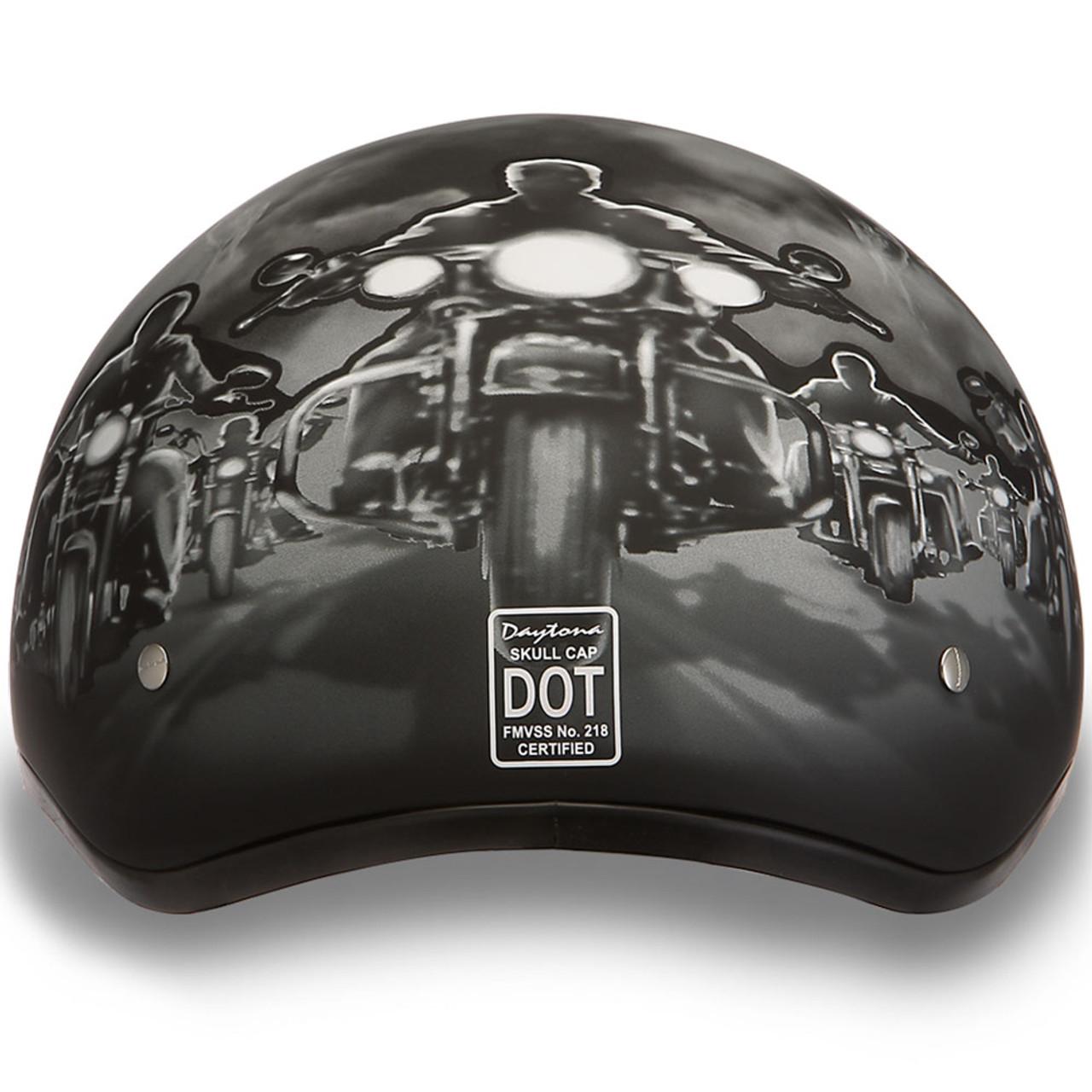 57908d0e46d Daytona DOT Guns Half Shell Motorcycle Helmet - Get Lowered Cycles