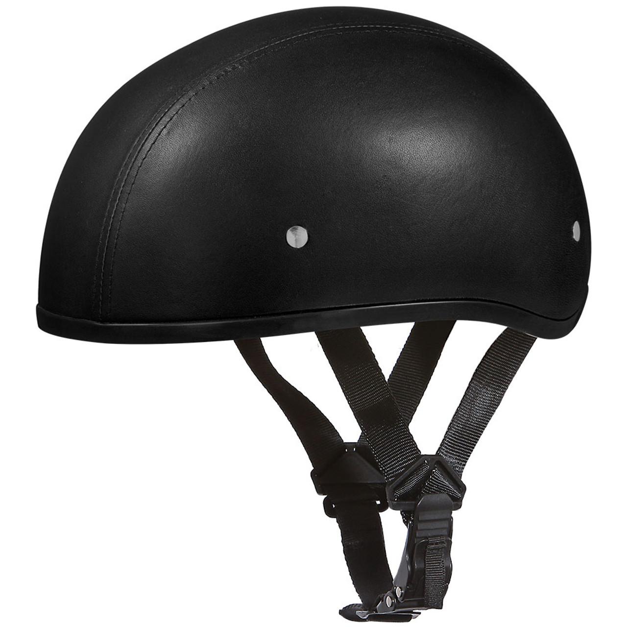 83ad3117b17 Daytona DOT Half Shell Leather Skull Motorcycle Helmet - Get Lowered Cycles