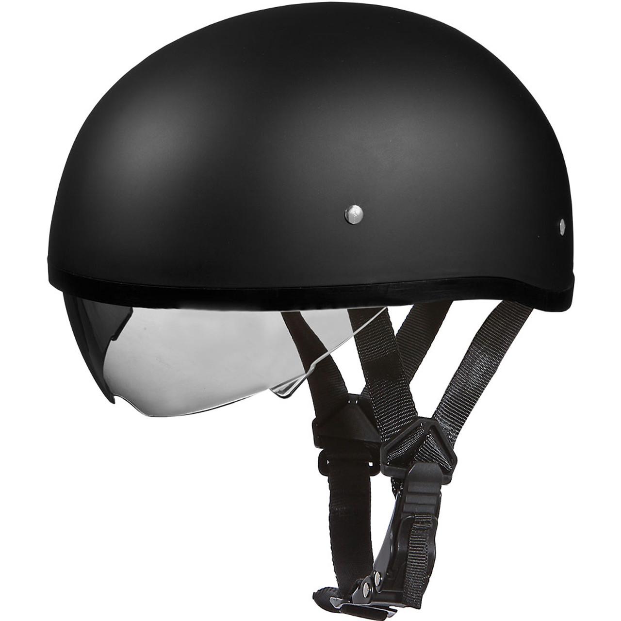651dd833fef Daytona DOT Matte Black Skull Helmet w  Inner Shield - Get Lowered Cycles