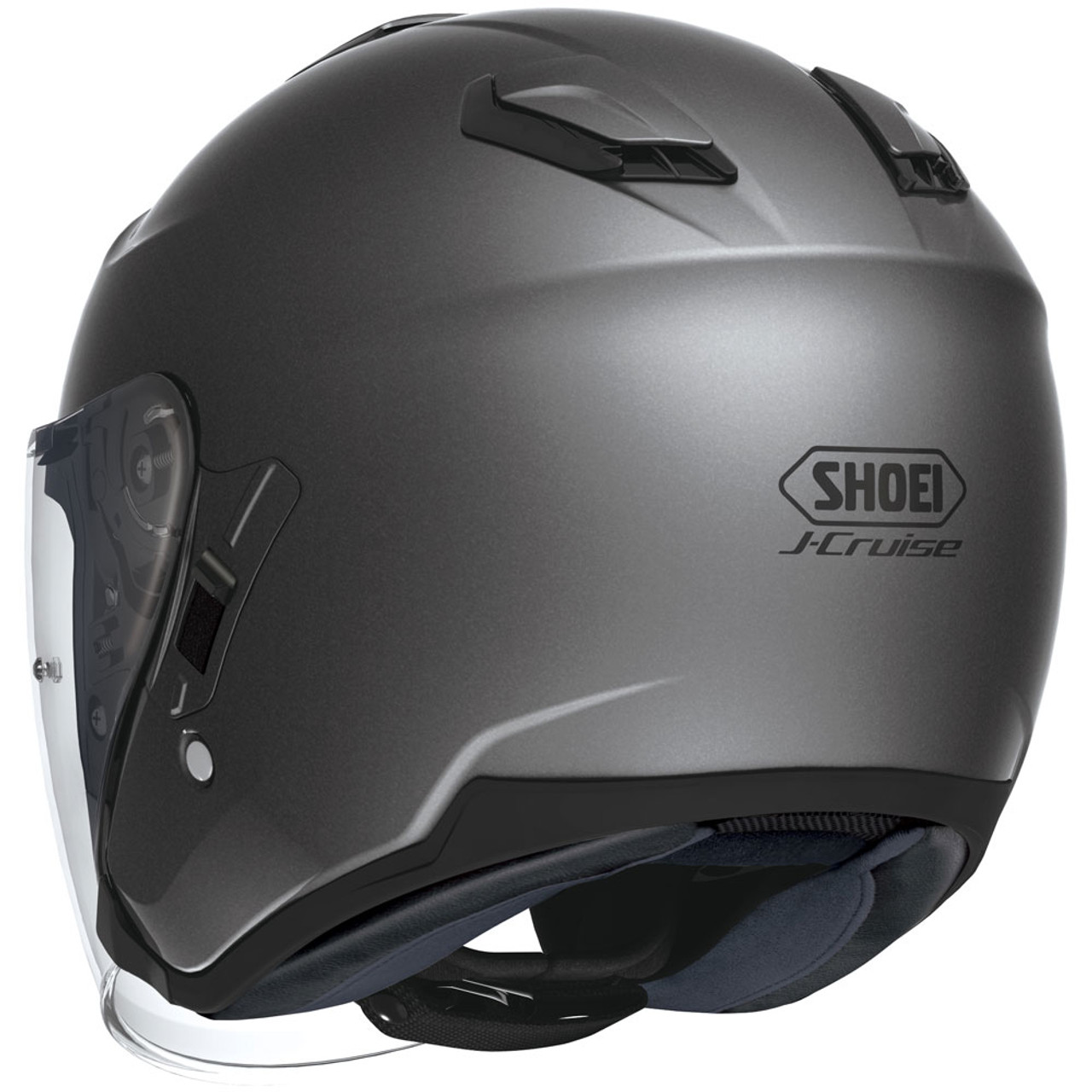 33a17904 Shoei J-Cruise Open Face Motorcycle Helmet - Matte Deep Grey - Get ...