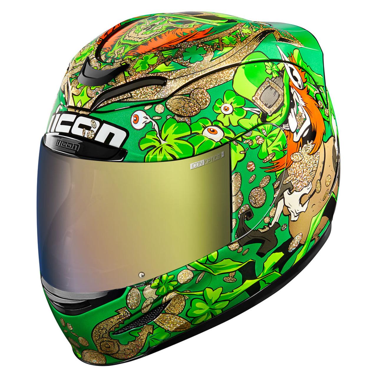 ICON MotoSports Airmada CHANTILLY OPAL Full-Face Motorcycle Helmet XS Purple