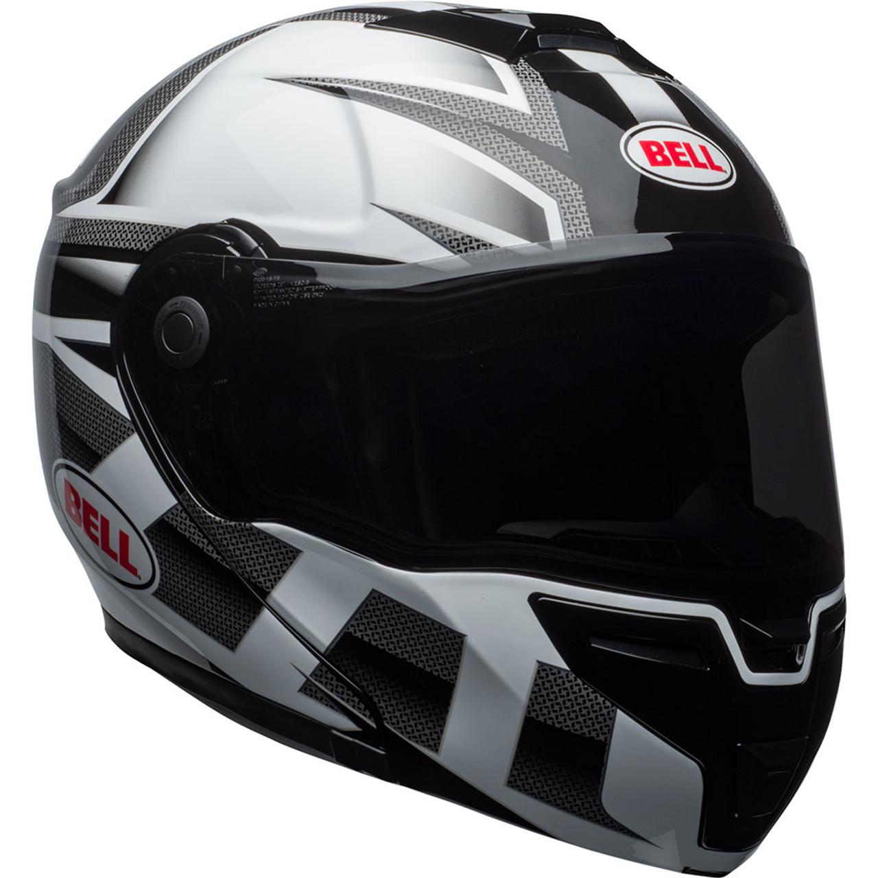 Bell Motorcycle Helmet >> Bell Srt Modular Helmet Gloss White Black Predator