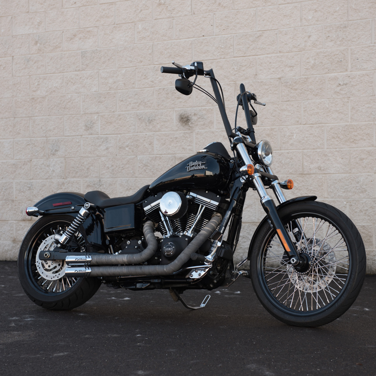 Mustang Tripper Solo Seat for 2006-2017 Harley Dyna - Tuck and Roll