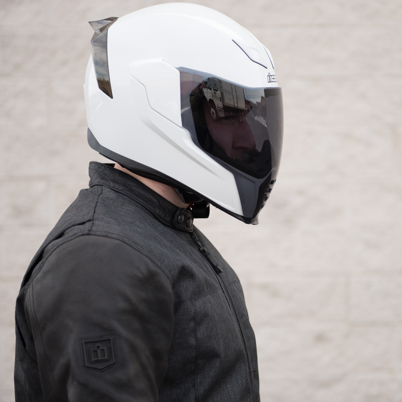 fed3cbab Icon Airflite Light Smoke Motorcycle Shield - 0130-0779 - Get ...