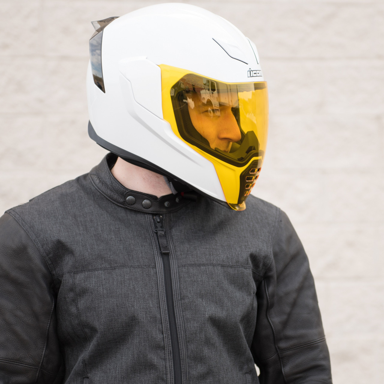 a770bbfa Icon Airflite Yellow Motorcycle Face Shield - 0130-0778 - Get ...