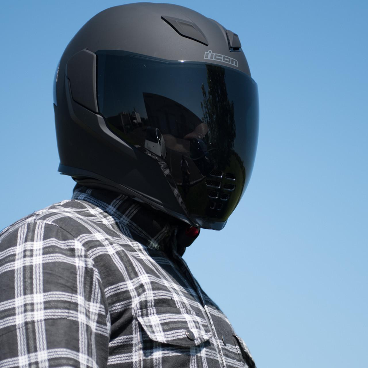 785eff68 Icon Airflite Dark Smoke Motorcycle Face Shield - 0130-0778 - Get ...