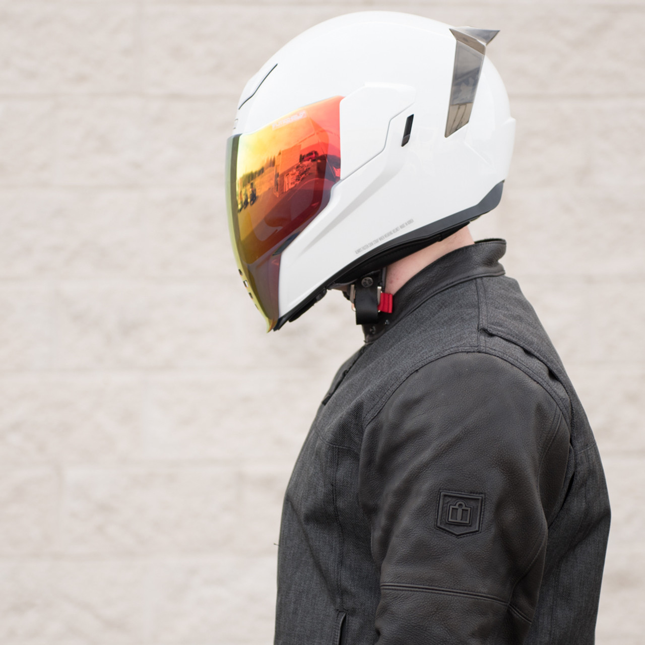 66b841e1 Icon Airflite RST Red Motorcycle Face Shield - 0130-0783 - Get ...