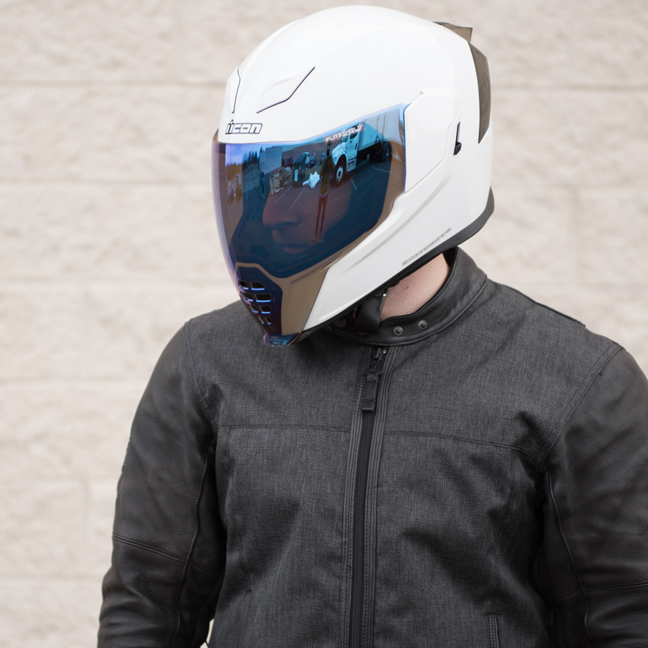 65aba862 Icon Airflite RST Blue Motorcycle Face Shield - 0130-0784 - Get ...
