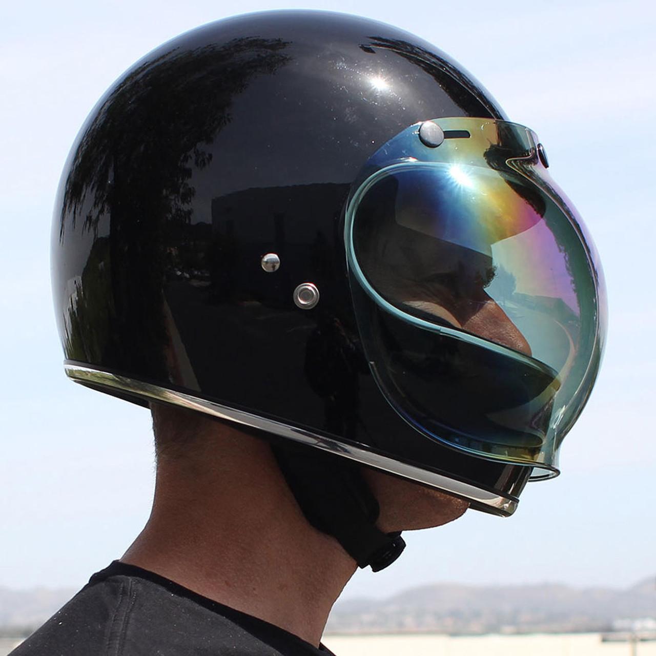 Rainbow Mirror Biltwell Bubble Shield Anti Fog