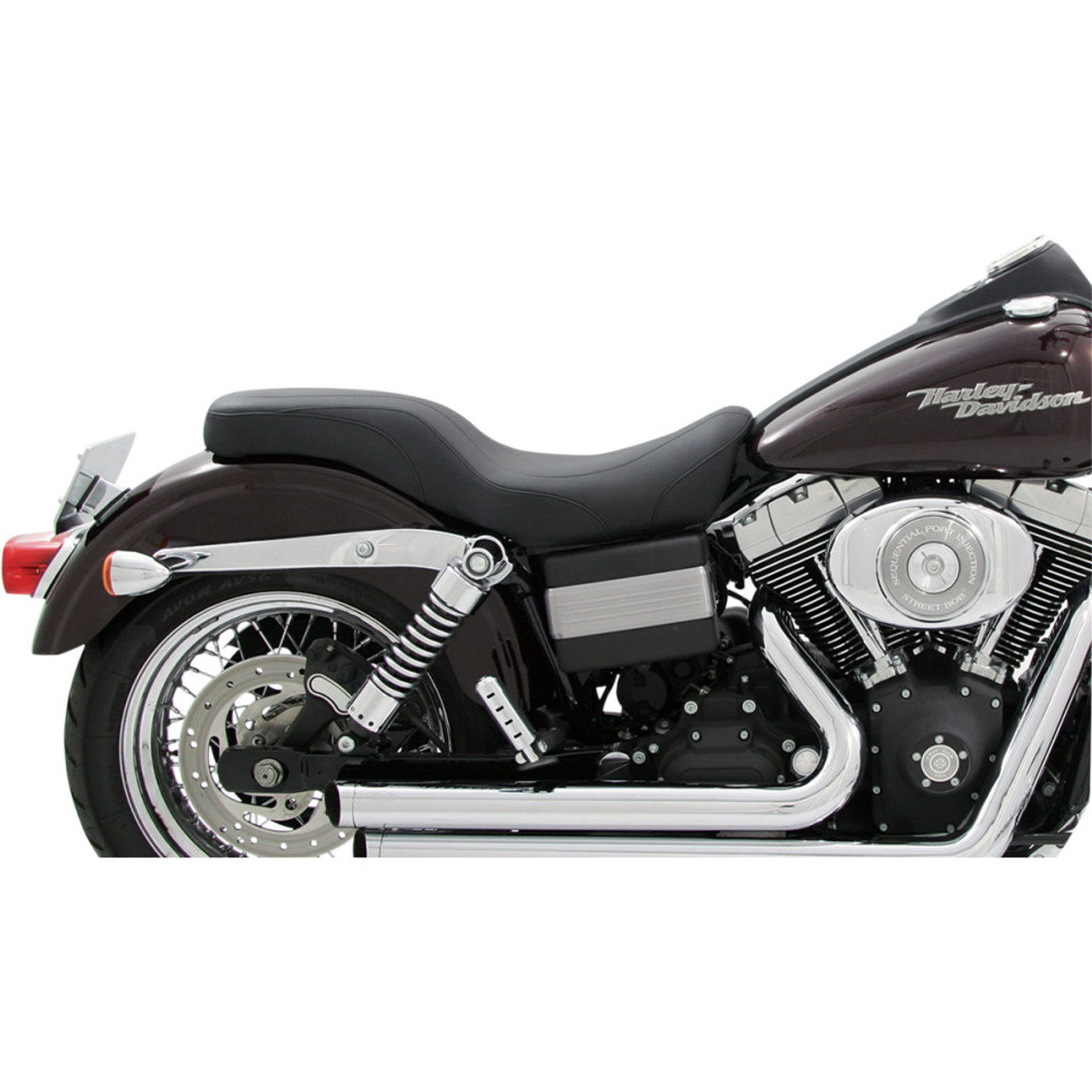 Mustang Daytripper Seat for 2006-2017 Harley Dyna - Black