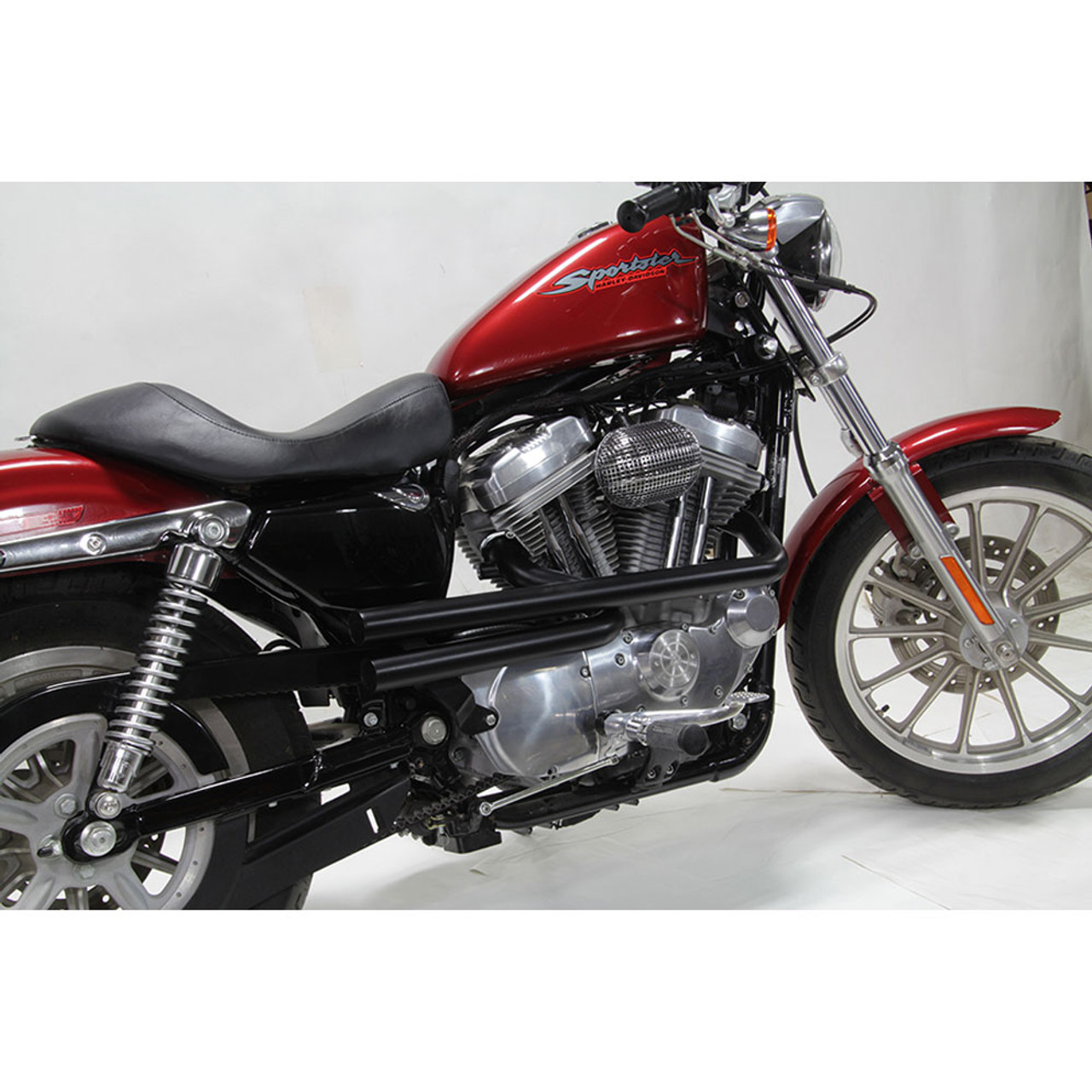 V Twin Mfg Shotgun Style Exhaust For 2004 2018 Harley Sportster Black 29 0202 Get Lowered Cycles