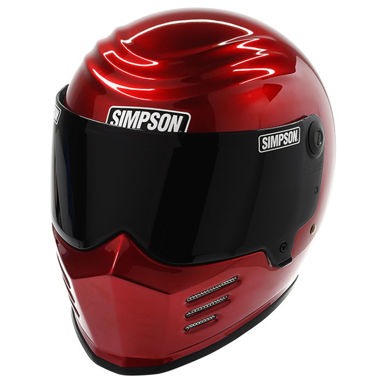 Simpson Outlaw Bandit Motorcycle Helmet Candee Red Get Lowered