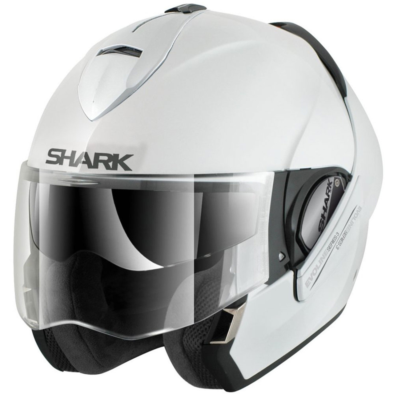 211a1b719ecd5f Shark Evoline 3 Gloss White Modular Helmet - HE9350DWHUM - Get ...
