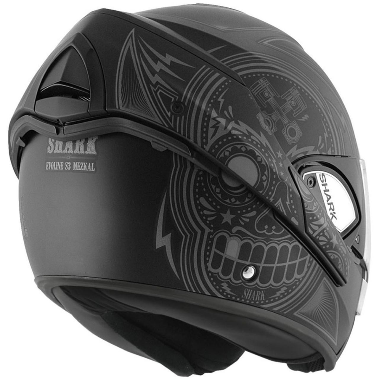 b05b5d9c6e76c4 Shark Evoline 3 Mezcal Matte Black Modular Helmet - HE9347DKASL ...