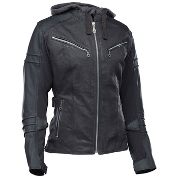 Speed and Strength Street Savvy Women's Leather/Textile Jacket - Black/Black