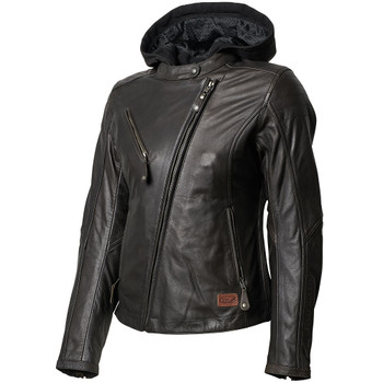 Roland Sands Women's MIA Leather Jacket - Tobacco Brown