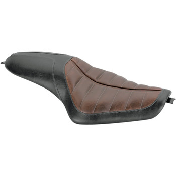 Roland Sands Enzo 2-Up Seats for 2004-2020 Harley Sportster - Brown