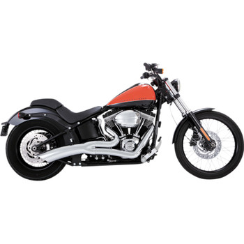 Vance & Hines Big Radius 2-Into-1 Exhaust for 1986-2017 Harley Softail - Chrome