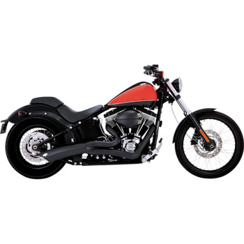Vance & Hines Big Radius 2-Into-1 Exhaust for 1986-2017 Harley Softail - Matte Black
