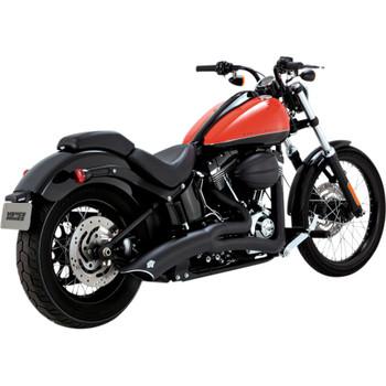 Vance & Hines Big Radius 2-Into-1 Exhaust for 1986-2017 Harley Softail - Matte Black