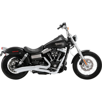 Vance & Hines Big Radius 2-Into-1 Exhaust for 2012 -2017 Harley Street Bob and Fat Bob - Chrome