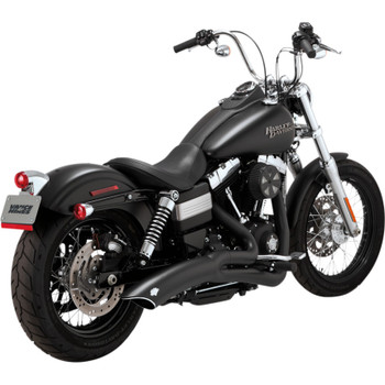Vance & Hines Big Radius 2-Into-1 Exhaust for 2012 -2017 Harley Street Bob and Fat Bob - Matte Black