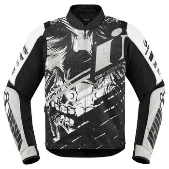 Icon Overlord STIM Jacket - White