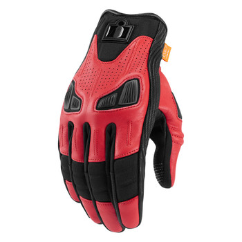 Icon Automag Gloves - Red