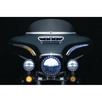Kuryakyn Sequential Run-Turn LED Bat Lashes for 2014-2018 Harley Touring
