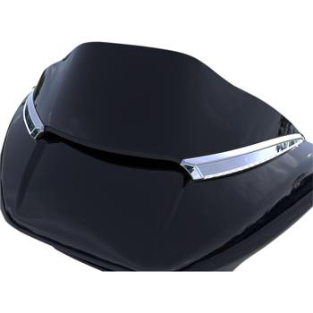 Ciro Horizon LED  Windshield Trim for 2015-2020 Harley Road Glide - Chrome