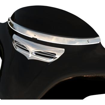 Ciro Horizon LED Windshield Trim for 2014-2020 Harley Touring - Chrome