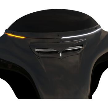 Ciro Horizon LED Windshield Trim for 2014-2020 Harley Touring - Black