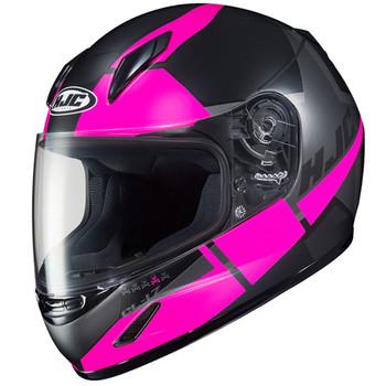 HJC CL-17 Boost Helmet - Matte Black/Fuchsia