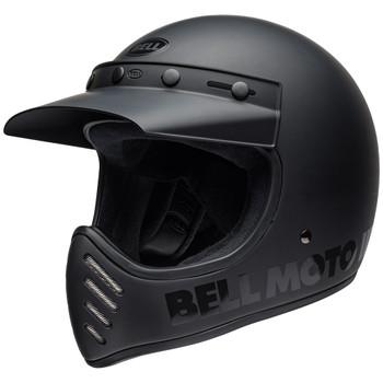Bell Moto 3 Classic Helmet - Matte/Gloss Blackout