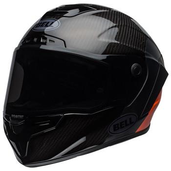 Bell Race Star Flex Carbon Helmet - Lux Matte/Gloss Black/Orange