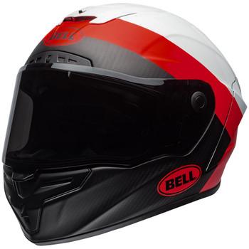 Bell Race Star Flex DLX Surge Matte/Gloss White/Red Helmet
