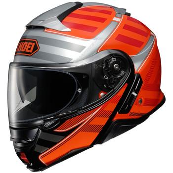 Shoei Neotec 2 Splicer Modular Helmet - Orange/Silver