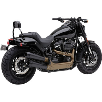 Cobra El Diablo Mufflers for 2018 Harley Fat Bob - Black