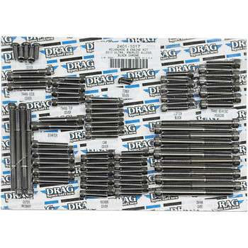 Drag Specialties M-Eight Engine Bolt Set for 2017-2018 Harley Touring - Black Chrome